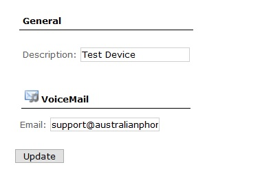 device voicemail